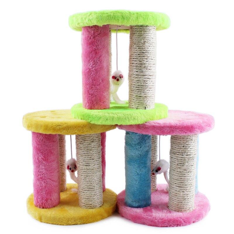 2018 nouveau fou chat jouets Double disque Simulation de souris cachée Pet jouet chat escalade cadre souris et animaux jouets livraison gratuite