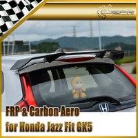 Автомобильные аксессуары для Honda Jazz Fit GK5 14 17 углеродного волокна TL Стиль задний спойлер Глянцевая Fibre Магистральные крыло гоночный обвес отд