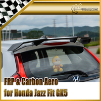 Car Accessories For Honda Jazz Fit GK5 14 17 Carbon Fiber TL Style Rear Spoiler Glossy Fibre Trunk Wing Racing Body Kit Trim