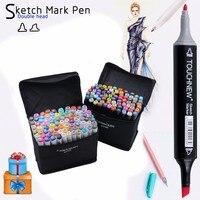 TouchFive Marker 30 40 60 80 Color Alcoholic Oily Based Ink Art Marker Set Best For