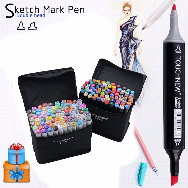 TouchFive Marker 30/40/60/80 Color Alcoholic Oily based Ink Art Marker Set Best For Manga Dual Headed Art Sketch Markers Pen touchnew 30 40 60 80 color art markers set material for drawing alcoholic oily based marker manga dual headed brush pen