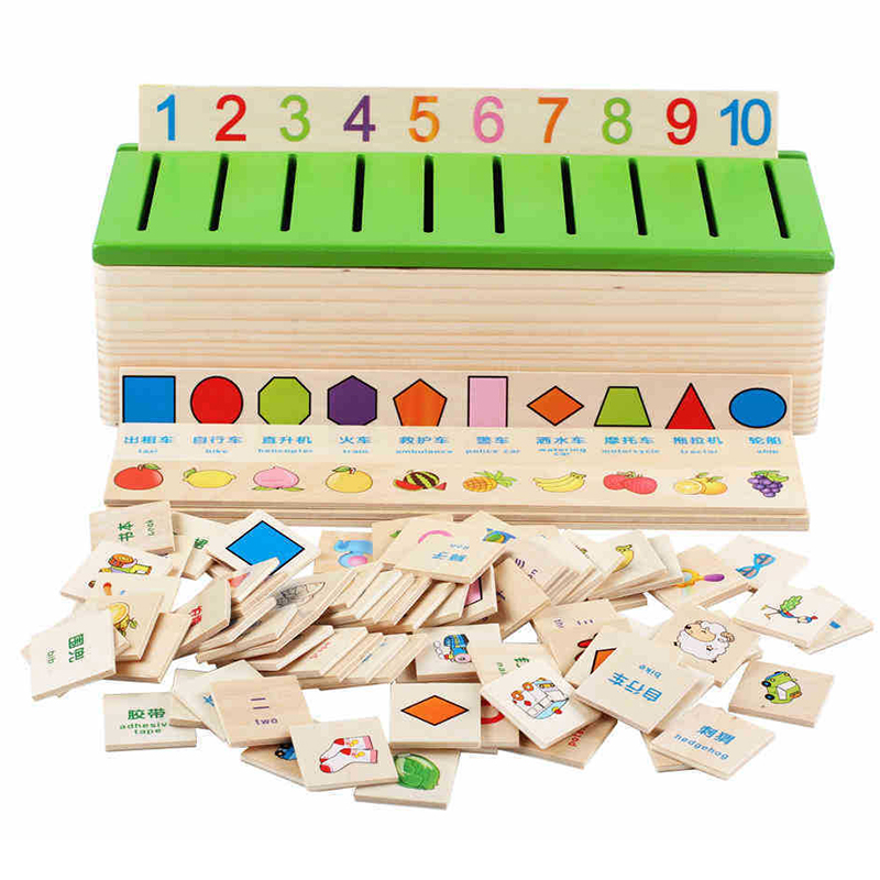 Kids Classification Early Learn Educational Toys Wooden Box Cognitive Matching  Mathematical Knowledge Baby Number Toy For KIds