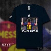 Fashion Barcelona MESSI Fitness Cotton T Shirt Men T Shirt 2017 Summer Streetwear Brand Clothing Footballer