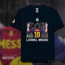 2d43486b6 Fashion Barcelona MESSI fitness cotton T-Shirt Men T Shirt 2017 Summer  Streetwear brand clothing footballer Lionel LEO Argentina