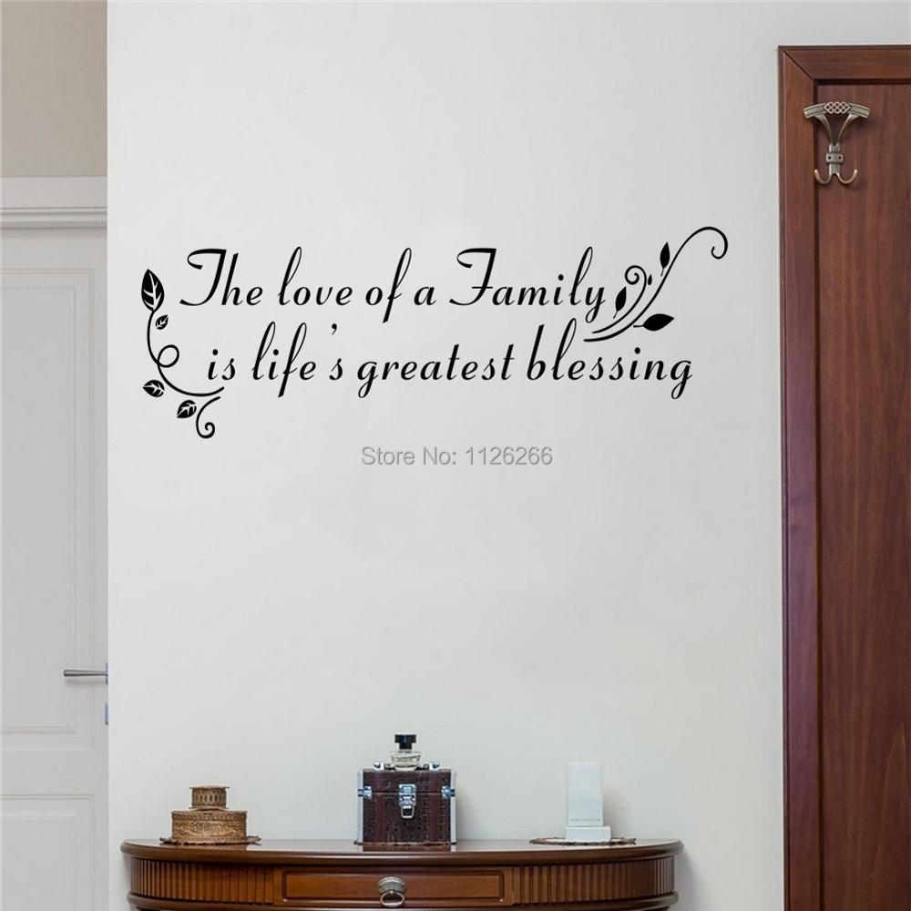 The love of a family is life greatest blessing quote wall decals art wall decal loving quotes ps i love you vinyl wall stickers home decor various color selectionusd 122 143piece amipublicfo Choice Image