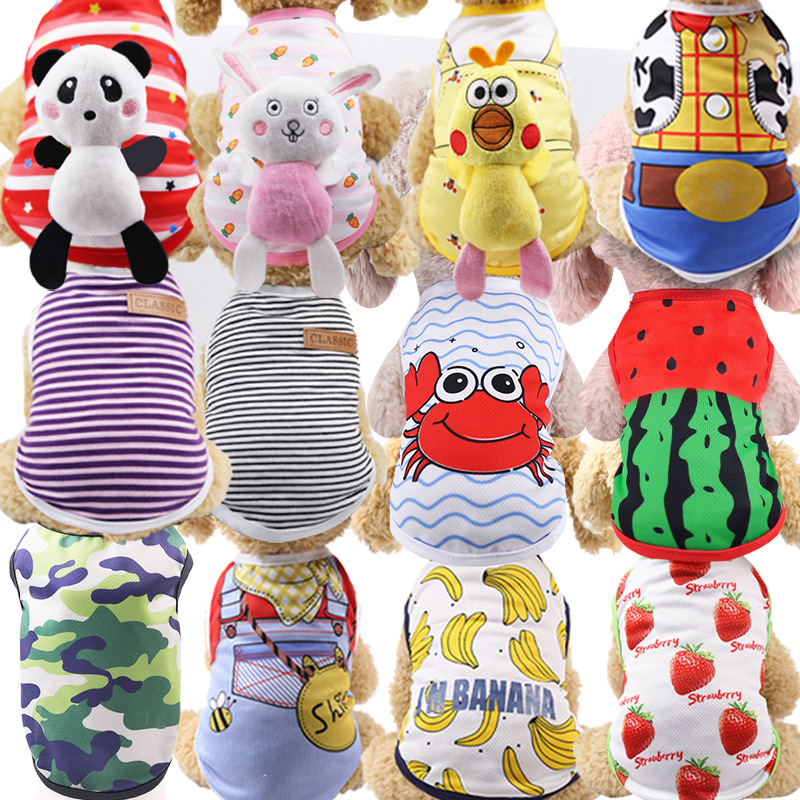 Cute Puppy Dog Shirt Vest Pet Thirt Dog Clothes Summer For Small Dogs Chihuahua Yorkshire Maltese Pets Clothing Cat Outfit