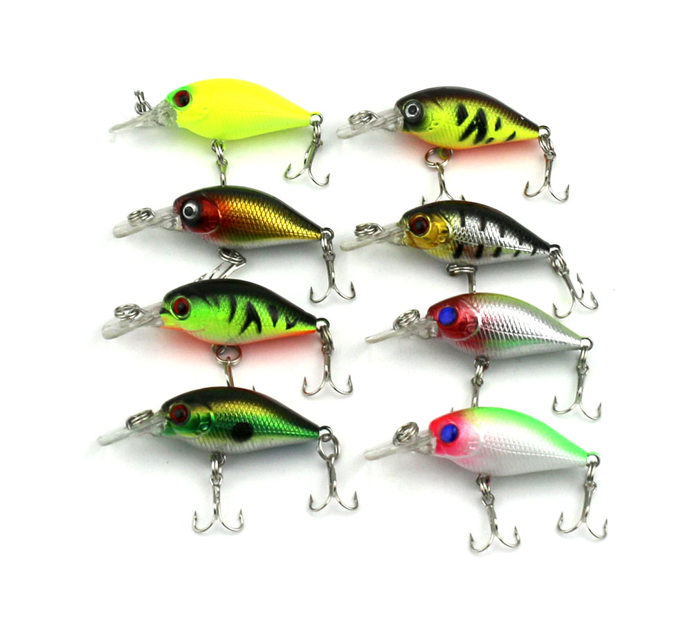 8pcs Mini Wobblers Hard Fishing Lures 5cm 4.4g Crankbait Bass Bait Fishing Tackle Plastic Hard Fishing Bait 1pcs lifelike 8 5g 9 5cm minow wobblers hard fishing tackle swim bait crank bait bass fishing lures 6 colors fishing tackle