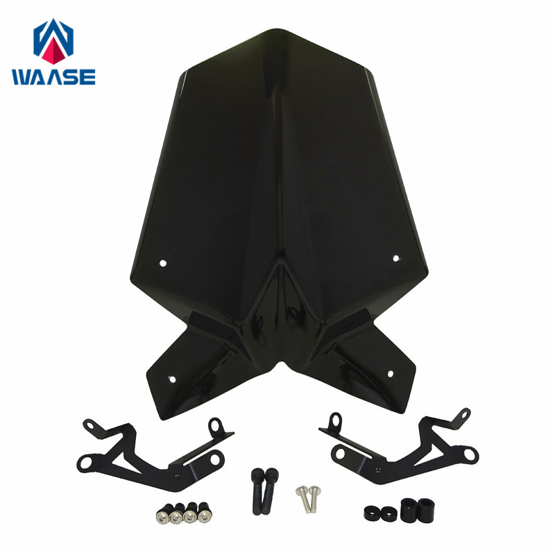 waase Duke125 Duke390 Windscreen Windshield Shield Screen With Bracket For KTM Duke 125 390 2017 2018 cx20582 10z