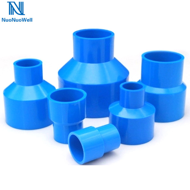US $1 04 20% OFF|NuoNuoWell 1 PC Blue Tube Fitting Reducing Straight  Connectors Garden Water Pipe Connector PVC Pipe Fittings-in Garden Water