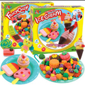 Kids  plasticine play doh  /FIMO Polymer Clay Ice Cream fancy candy set Playdough Moulds  Children Educational Toys