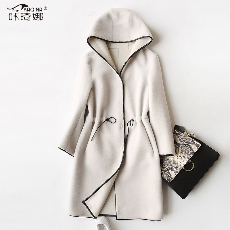Reale Cappotto di Pelliccia di Lana Giacca in Autunno Cappotto di Inverno Delle Donne Vestiti 2018 Coreano Vintage Manteau Femme Hiver DELL'UNITÀ di elaborazione del Rivestimento Più Il Formato ZT925