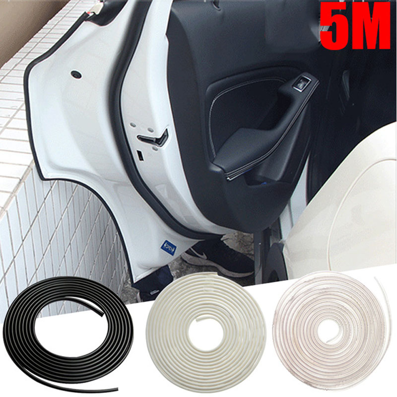 Vehemo 5M Universal Car Door Edge Guard Scratch Strip Protector Rubber Sealing Trim Molding Car Styling Universal For Audi BMW noulei ballscrew support bk17 bf17 c3 linear guide screw ball screws end supports cnc