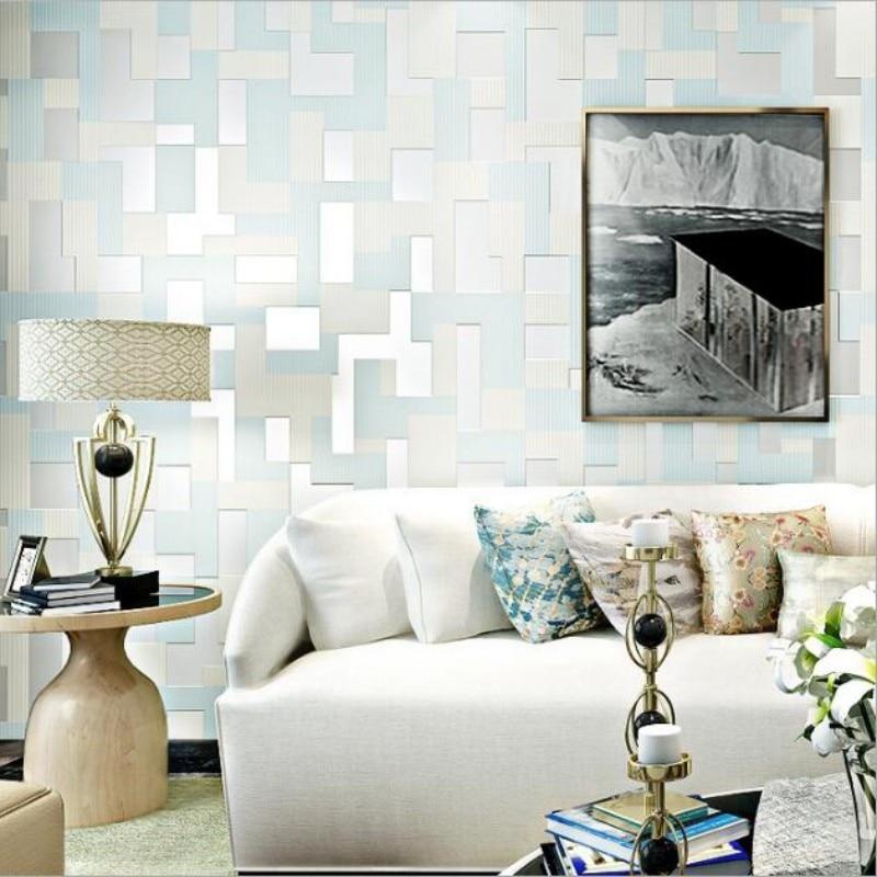 Beibehang Wallpaper Modern 3D Living Room TV Backdrop Mosaic Wallpaper Home Decorative Wallpaper for walls 3 d  papel de parede