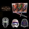 Star Wars Телескопический 2 шт. Световой Меч и 3 шт. Маски с Свет и Звук Led Cospay Сабля День Рождения Halloween Party Игрушки для Детей