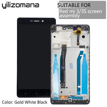 YILIZOMANA Original Replacement LCD Display Touch Screen Assembly with Frame For Xiaomi Redmi Hongmi 3 3s + Free tools