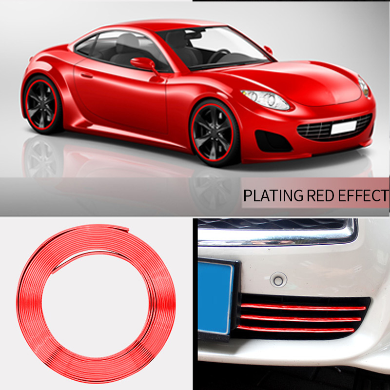 Image 5 - Car Wheel Rim Sticker Chrome Wheel Decoration Auto Tire Rims Plated Strip Protection Decoration Car styling Exterior Accessories-in Car Stickers from Automobiles & Motorcycles