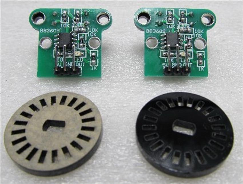 DIY люкс двойной скорость измерительный модуль два датчика скорости фотоэлектрический кодировщик импульсный выход Модуль, умный автомобиль...