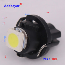 NEUE 200 x Auto/air LED 12v-dashboard Bulb T5 draht 5050 1SMD T 6,5 12MM Max durchmesser instrument panel lichter lampen auto lampen weiß