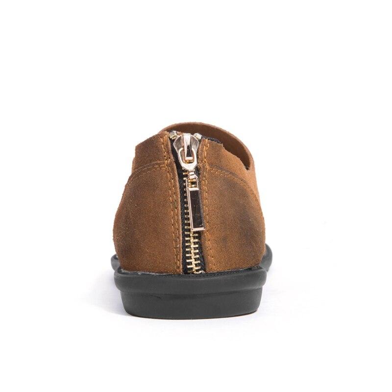 brown Brand La Daim Pour En De Main Nouvelle Cuir Mocassins À Conduite Hommes blue Black Glissement Appartements Sur Design Chaussures HBS4n