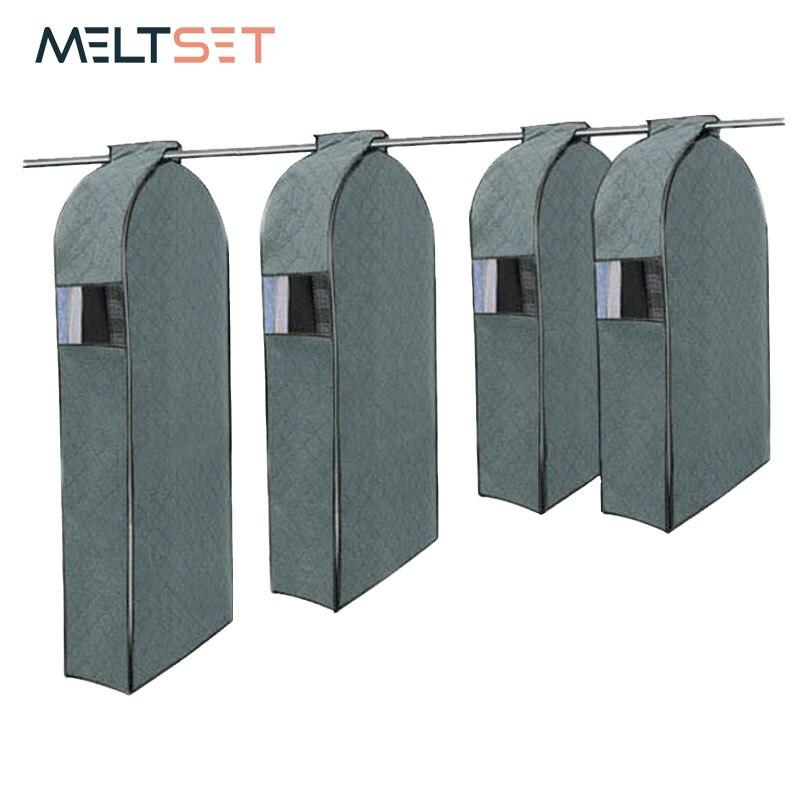 Meltset เสื้อผ้า Cover Bag สำหรับตู้เสื้อผ้าตู้เสื้อผ้าชุดระบายอากาศแขวนเสื้อผ้าถุงเก็บฝุ่นโดยไม่ต้องแขวนผ้าไม่ทอ