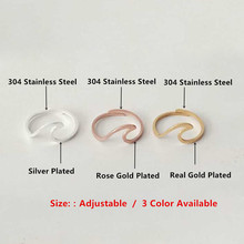 V Attract Stainless Steel Jewelry Accessries Rose Gold Anel Fashion Wedding Gift For Women Men