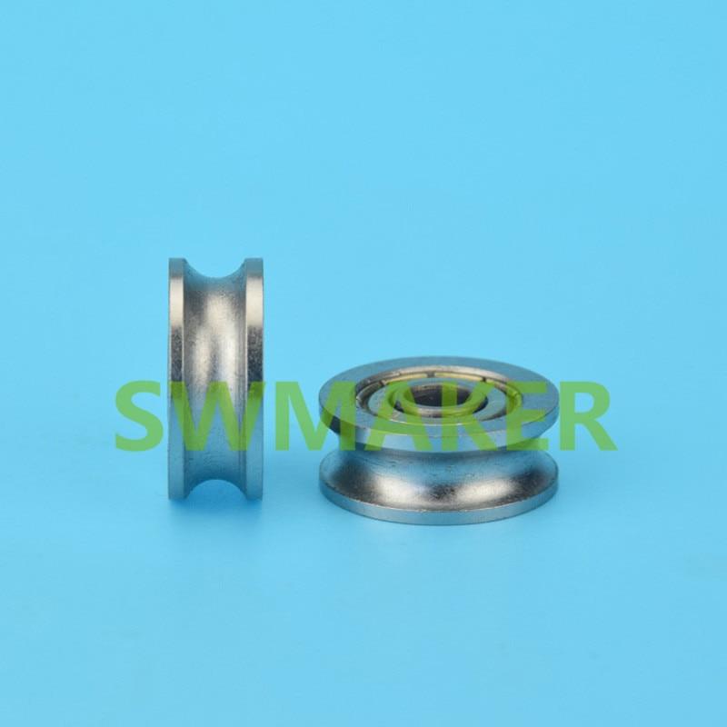 SWMAKER 5*19*7.5mm U type groove pulley wheel Bearing steel roller ...