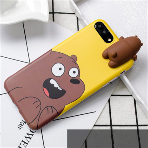 3D Cute Cartoon We Bare Bears brothers funny toys soft phone case for iphone 5 5s 6 6s 7 8 plus 10 X XR XS MAX cover cases coque Multan