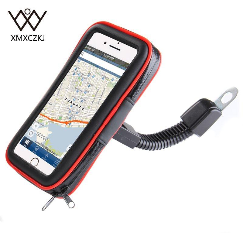 XMXCZKJ Motocicleta Mobile Phone Holder Suporte Moto Saco de Suporte de Bicicleta Para Bicicleta de Smartphones À Prova D' Água Caso de Telefone Celular Titular GPS