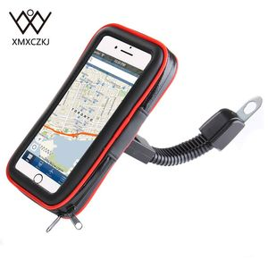 XMXCZKJ Motorcycle Mobile Phone Holder Support Moto Bicycle Stand For Smartphone Bike Waterproof Bag Cell Phone Case GPS Holder