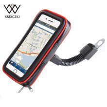 XMXCZKJ мотоциклов мобильного держатель телефона Подставка Moto велосипедная стойка для смартфонов велосипед Водонепроницаемый упаковка для мобильного телефона чехол gps держатель