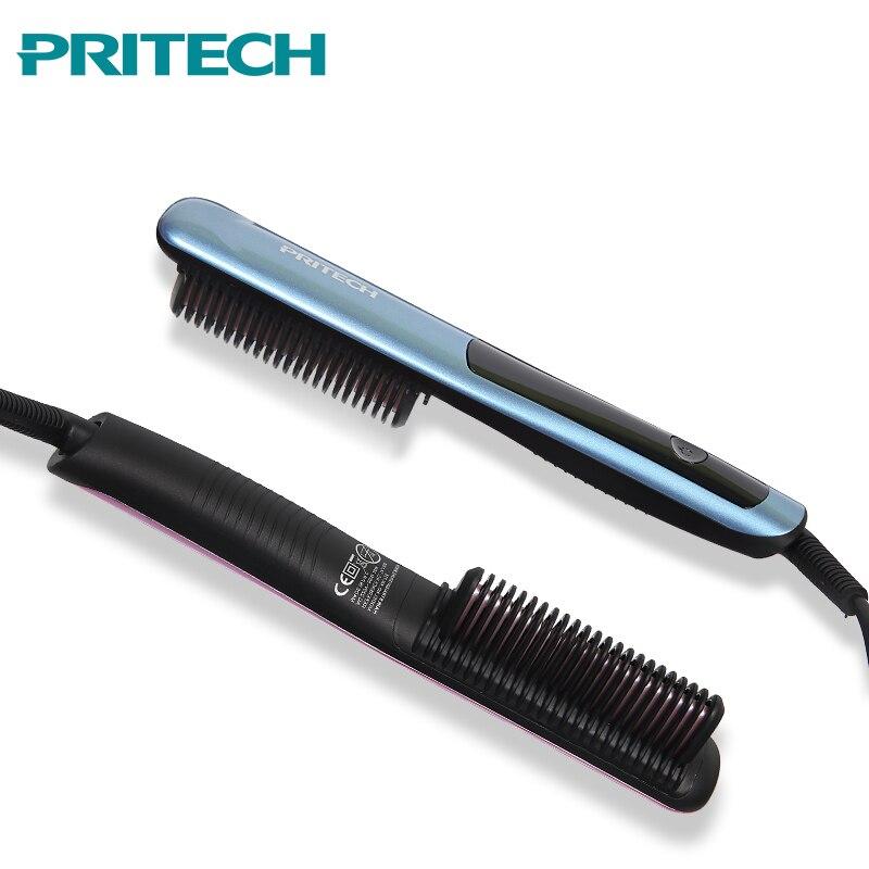 2019 Hair Straightening Brush LED Display Fast Heating V-Shape Beard Straightener Comb Professional Styling Tools2019 Hair Straightening Brush LED Display Fast Heating V-Shape Beard Straightener Comb Professional Styling Tools