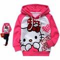 2015 Kids Hoodie Kitty KT Cat cartoon Minnie long-sleeved girls t-shirt casual sweater hoodie children's clothing free shipping