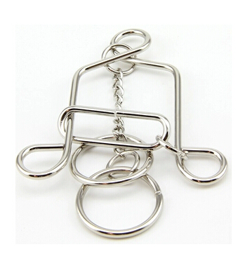 Classic IQ Bell Shape Metal Brain Teaser Wire Puzzles IQ Mind Game Puzzle for Young and Old