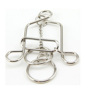 Image 1 - Classic IQ Bell Shape Metal Brain Teaser Wire Puzzles Mind Game Puzzle for Adults Kids