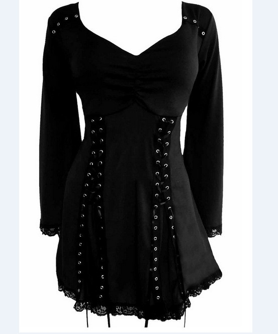 Gothic victorian boho renaissance women 39 s plus size for Best affordable dress shirts
