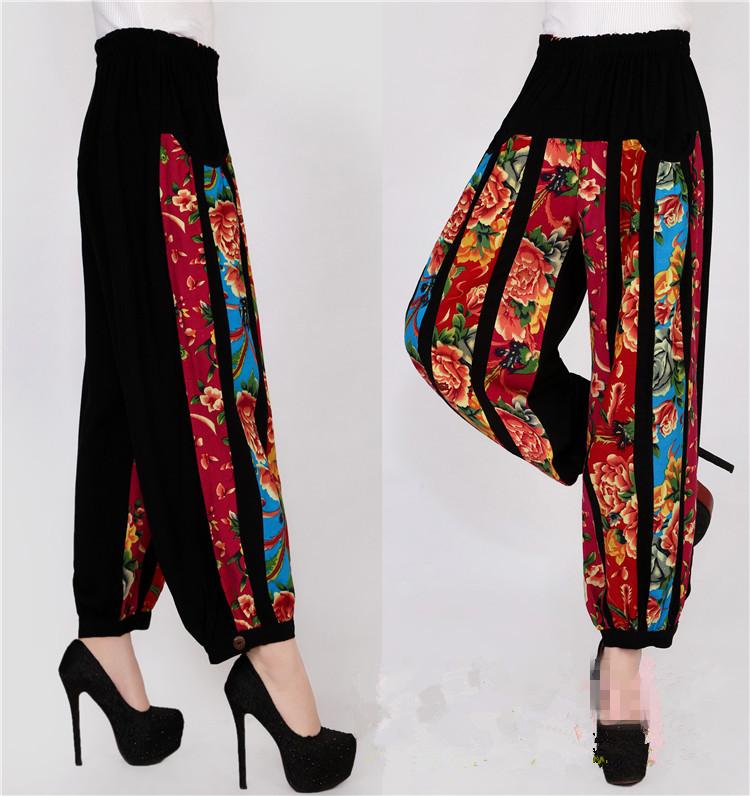 60492f3e6db Spodnie Harem Harem Pants Kobiet Hip Top Kwiaty Druku Pościel ...