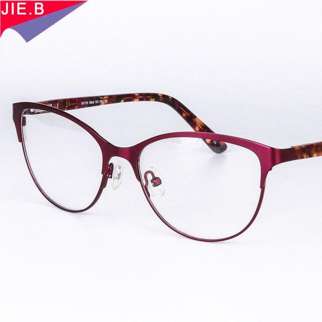 c16de5dbffb799 Haute qualité En Alliage Chat Lunettes Femmes Optica Spectacle Cadre Femme  Effacer Ordinateur Vintage Lunettes Cadre