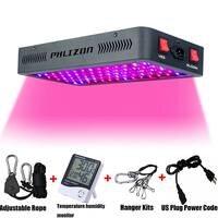 Phlizon новейший 1200 Вт светодиодный растительный свет с термометром влажности монитор и Регулируемая Веревка, двойной переключатель растител