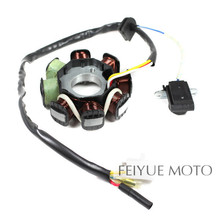 8- Coil Magneto Stator for GY6 50cc Scooter Moped Alternator 139QMB Engine Parts