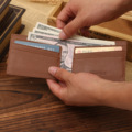 2016 Nuevas de LA PU Clips del Dinero de Cuero de Cartera Para Hombre Precio del Dólar de Metal Clips De Dinero Billeteras Delgadas Abrazadera Para Money Card Organizador Del Monedero