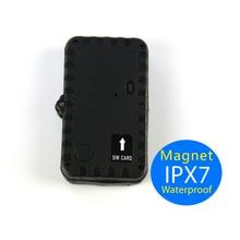 En Tiempo Real de Seguimiento de Vehículos GPS Rastreador Veicular 2600 mAh Batería Impermeable Potente Imán Del Sensor de Movimiento