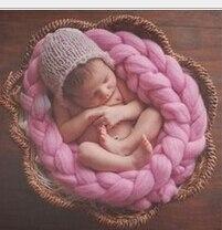 2016 шерсть волокно одеяло 400 см корзина наполнитель корзина Stuffer новорожденный фотографии фон реквизит душа ребенка постельное бельепокрывалоконверт для новорожденныходеяло для новорожденныхдетский одеяло для