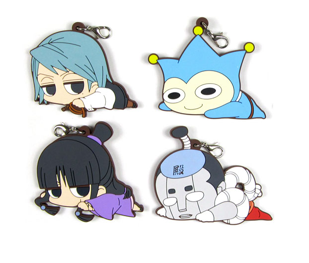 Gyakuten Saiban/Ace Attorney Original Japanese Anime Figure Rubber Mobile Phone Charms/key Chain/strap D244