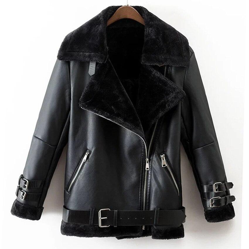 Faux Fur Coat 2017   Leather   Jacket Women Ladies Fashion More High-grade Winter To Keep Warm Women   Suede   Jacket