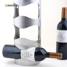 1 UNID sostenedor del vino del acero Inoxidable de La Nueva Manera colgante bar de moda estante del vino creativo marco engrosamiento de la pared estante del vino vino KJ 3003
