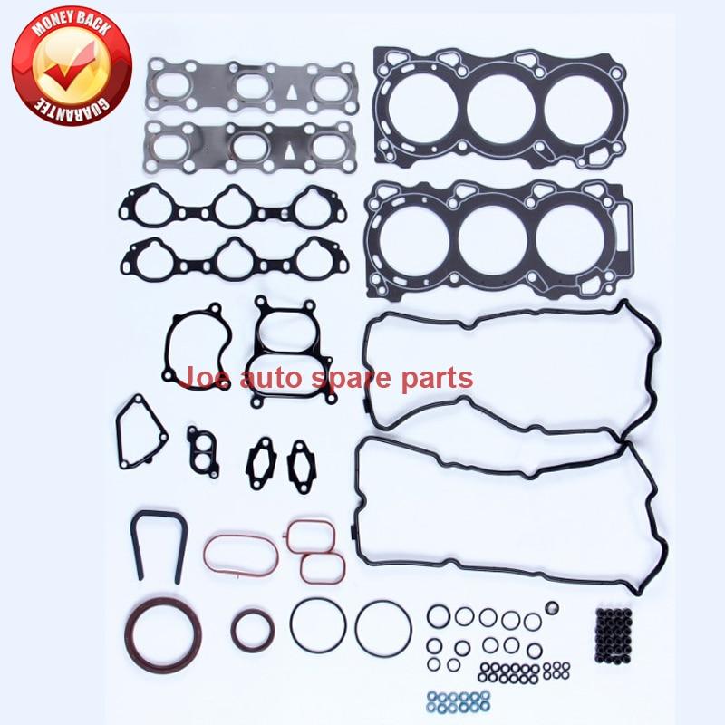 все цены на VQ40 VQ40DE Engine Full gasket set kit for Nissan PATHFINDER (R51) HARDBODY (D22) 4.0L 3954CC 2004- 10101-EA225 50273300 онлайн