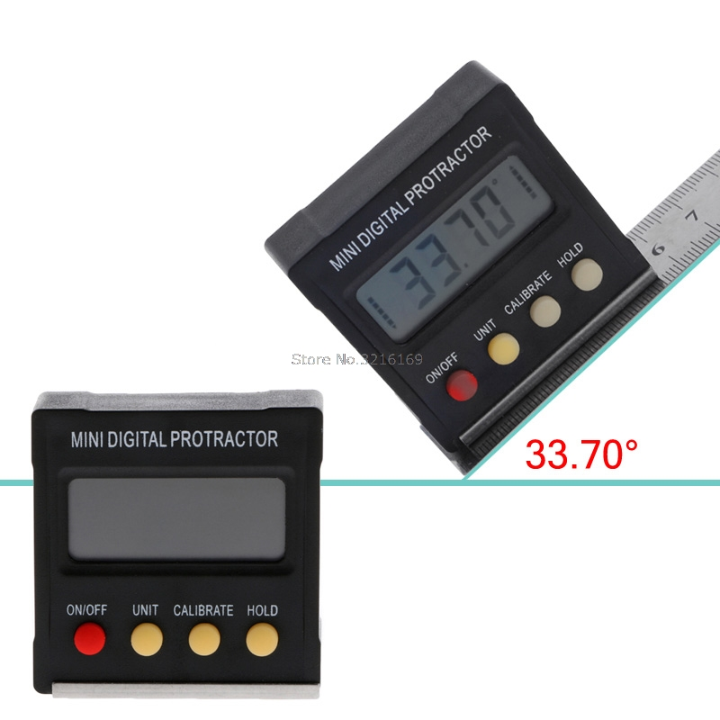 For 360 Degree Mini Digital Protractor Inclinometer Electronic Level Box Magnetic Promotion mini digital protractor inclinometer box electronic level box magnetic base measuring tools with gift pouch