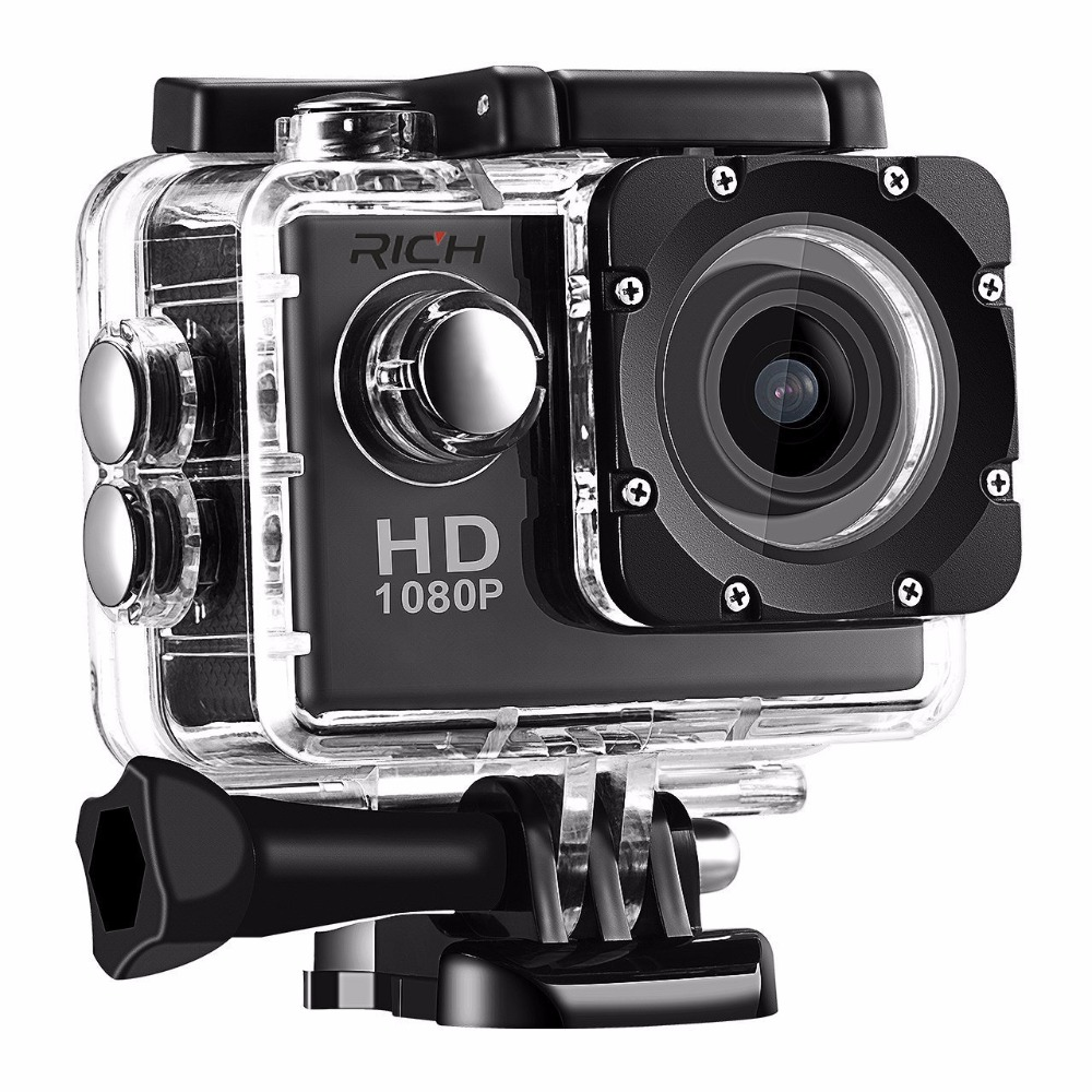 DHL 20pcs/lot RICH D9 Waterproof Full HD 1080P Action Camera Wifi For Gopro Hero Action Sports Camera LTPS LED 90 Degree