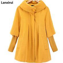 Новинка, зимняя женская накидка, свободные вязаные рукава, шерстяное пальто, ветровка, куртка, плюс размер