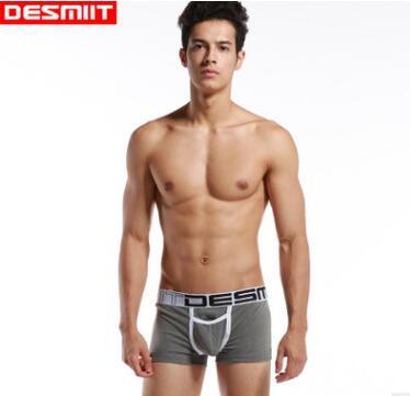 2017 high quality brand Desmiit solid underwear for men sexy underwear comfortable boxer shorts Low Waist Men Pouch Boxers